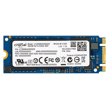 Crucial MX200 250 Go M.2 Type 2260 SSD 250 Go M.2 6Gb/s
