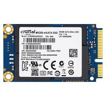 Crucial MX200 250 Go mSATA SSD 250 Go mSATA 6Gb/s