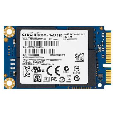 Crucial MX200 500 Go mSATA SSD 500 Go mSATA 6Gb/s