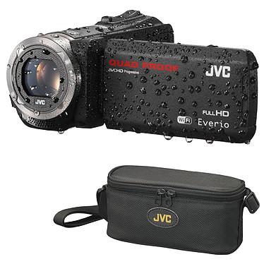 JVC GZ-RX515 Noir + JVC CB-VM89 + Carte SD 8 Go  Caméscope Full HD tout terrain avec écran LCD tactile Wi-Fi et HDMI + Sacoche de transport + Carte mémoire