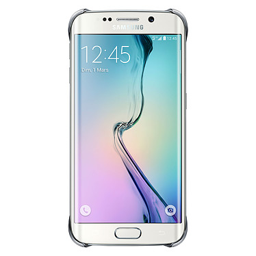 Samsung Clear Cover Argent Galaxy S6 Edge
