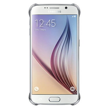Samsung Clear Cover Argent Galaxy S6
