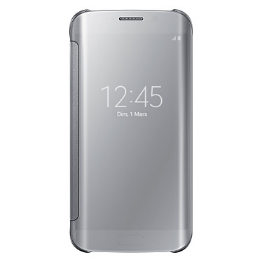 Samsung Clear View Cover Argent Galaxy S6 Edge