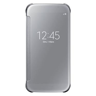Samsung Clear View Cover Argent Galaxy S6
