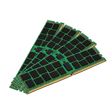 Kingston ValueRAM 128GB (4 x 32GB) DDR4 2400 MHz CL17 ECC Registrado DR X4 RAM de cuatro canales DDR4 PC4-19200 - Kit de cuatro canales KVR24R17D17D4K4/128 (garantía de 10 años de Kingston)