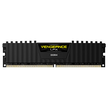 Corsair Vengeance LPX Series Low Profile 8 Go DDR4 2400 MHz CL16 RAM DDR4 PC4-19200 - CMK8GX4M1A2400C16 (garantie à vie par Corsair)