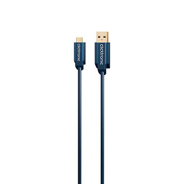 Clicktronic Cable Micro USB 2.0 Tipo AB (Macho/Macho) - 1 m a bajo precio