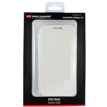 Acheter Swiss Charger Etui Folio Slim Blanc Samsung Galaxy S6