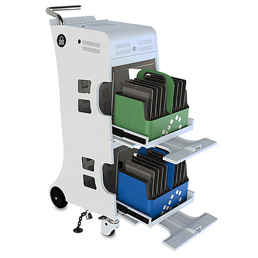 Lockncharge IQ 16 Cart Chariot de 16 chargeurs pour iPad, iPad mini et iPad Air