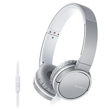 Sony MDR-ZX660AP Blanc Casque supra-auriculaire fermé compatible smartphone