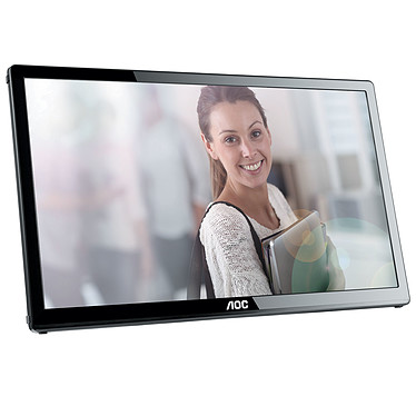 """AOC 17"""" LED - E1759FWU 1600 x 900 pixels - 10 ms - Format large 16/9 - USB - Noir"""