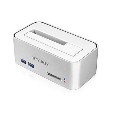 """ICY BOX IB-111HCr-U3 Station d'accueil USB 3.0 pour disque dur 2""""1/2 et 3""""1/2 avec ports USB 3.0 et lecteur de cartes SD"""