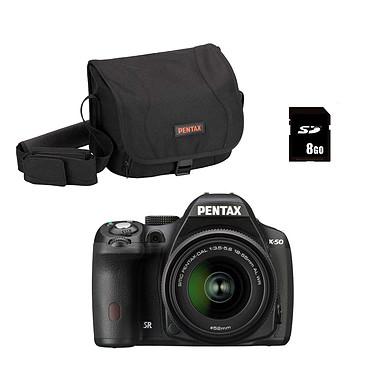 Pentax K-50 + Objectif DA 18-55mm f/3,5-5,6 AL WR + Pentax 50099 + carte 16 SDHC