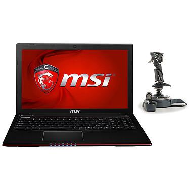 "MSI GE60 2QE-1003XFR Apache Pro + Joystick Saitek Cyborg F.L.Y. 5 (FLY 5)* Intel Core i7-4720HQ 8 Go 1 To 15.6"" LED Full HD NVIDIA GeForce GTX 960M Graveur DVD Wi-Fi AC/Bluetooth Webcam FreeDOS (garantie constructeur 1 an)"