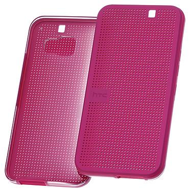 HTC Hard Shell Dot View Case 2 Rose HTC One M9 Etui folio avec coque arrière transparente pour HTC One M9