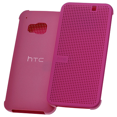 HTC Hard Shell Dot View Case Rose HTC One M9 Etui folio pour HTC One M9