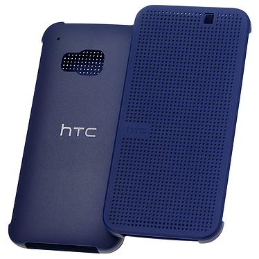 HTC Hard Shell Dot View Case Bleu HTC One M9 Etui folio pour HTC One M9