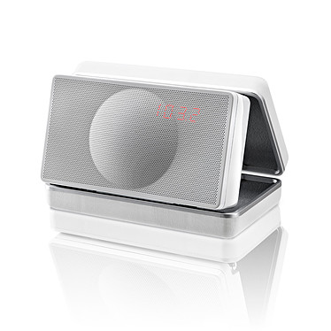 Geneva XS Blanc Enceinte stéréo Bluetooth avec fonction réveil