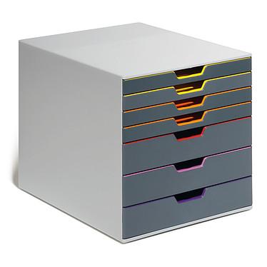 DURABLE Module de classement Varicolor 7 tiroirs 7607-27 Bloc de classement 7 tiroirs 24 x 32 cm fermés coloris Gris/multicolore
