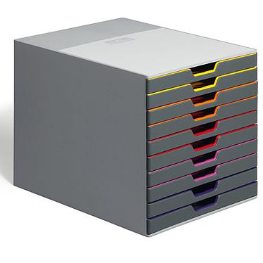 DURABLE Module de classement Varicolor 10 tiroirs 7610-27 Bloc de classement 10 tiroirs 24 x 32 cm fermés coloris Gris/multicolore