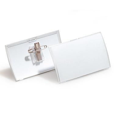 DURABLE Boîte de 25 badges CLICKFOLD combi Epingle et pince format 5,4 x 9 cm