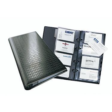 DURABLE Carpeta de anillas VISIFIX CENTIUM para tarjetas de visita capacidad 200 tarjetas color negro