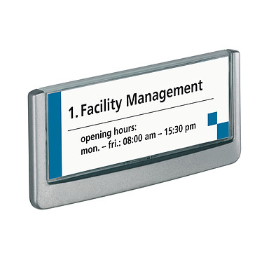Avis DURABLE Plaque de porte Click Sign format titre 149 x 52,5 mm coloris graphite