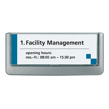 DURABLE Plaque de porte Click Sign format titre 149 x 52,5 mm coloris graphite