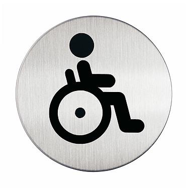 DURABLE Pictogramme rond symbole Handicapés diamètre 83 mm Pictogramme rond symbole Handicapés