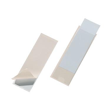 DURABLE Sachet de 10 Porte-étiquettes POCKETFIX adhésifs 38 x 125 mm