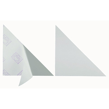 DURABLE Sachet de 8 Pochettes triangulaires CORNERFIX adhésives 175 mm de côté