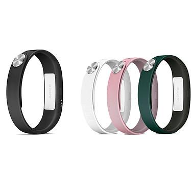 Sony SmartBand SWR10 Noir + 3 Bracelets L Bracelet connecté Bluetooth et NFC + Lot de 3 bracelets (blanc/rose/vert) de taille L