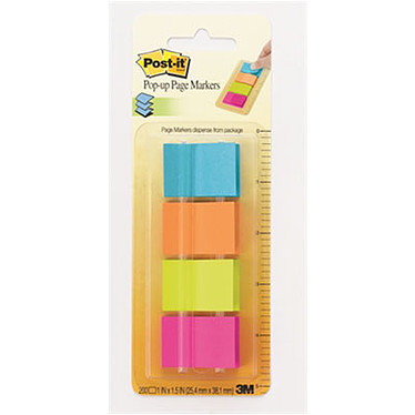 Post-it Index Z-notes Markers 200 marque-pages 25 x 38 mm assortis
