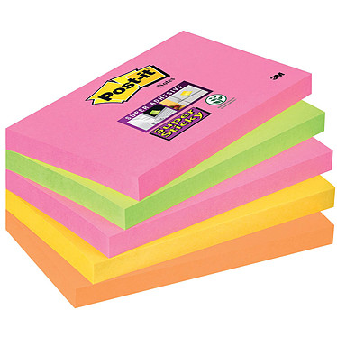 "Post-it Bloc ""Super Sticky"" 76 x 127 mm Capetown x 5"