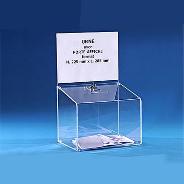 Torenco urne transparente avec porte affiche 25 x 29 x 22 cm