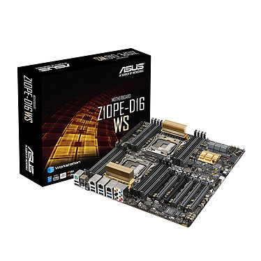 ASUS Z10PE-D16 WS Carte mère SSI EEB 2x Socket 2011-3 Intel C612 - SATA 6Gb/s - M.2 - 6x PCI Express 3.0 16x - 2x Gigabit LAN + 1x RJ45 management