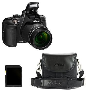 Nikon Coolpix P610 Noir + CS-P08 + Carte SDHC 4 Go