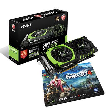 MSI GeForce GTX 970 GAMING 100ME + Tapis de souris gaming Farcry 4