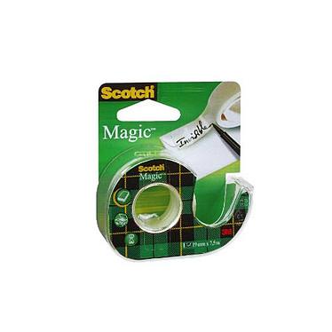 Scotch Magic 810 sur dévidoir 19 mm x 7.5 m Mat Ruban adhésif coloris mat sur dévidoir 19 mm x  7.5 m