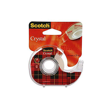 Scotch Crystal 600 sur dévidoir 19 mm x 7.5 m Transparent Ruban adhésif transparent 19 mm x  7.5 m