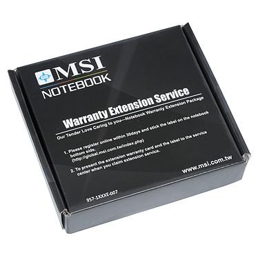 MSI 957-1XXXXE-007 - Extension de garantie 1 an supplémentaire Enlèvement/retour - Pièces et main d'oeuvre (pour ordinateur portable MSI)