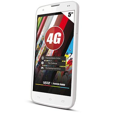 "Yezz Andy AC5V Blanc Smartphone 4G-LTE - ARM Cortex-A7 Quad-Core 1.3 GHz - RAM 1 Go - Ecran tactile 5"" 540 x 960 - 4 Go - Bluetooth - 2020 mAh - Android 4.4"
