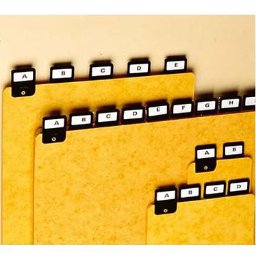 Rexel ValRex lot de 25 intercalaires A6 portrait  avec onglets métalliques