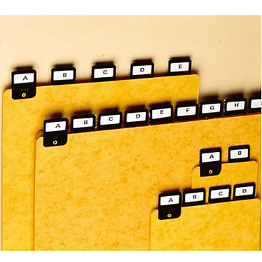 Rexel ValRex lot de 25 intercalaires A4 portrait avec onglets métalliques