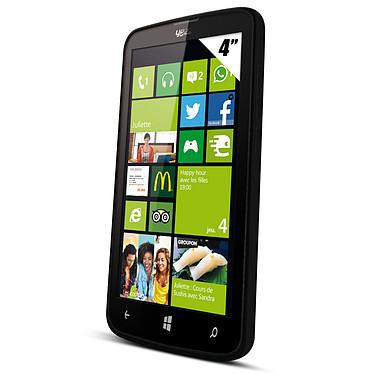 """Yezz Billy 4.0 Dual SIM Noir Smartphone 3G+ Dual SIM avec écran tactile 4"""" sous Windows Phone 8.1 + 3 caches batterie"""