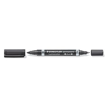 Staedtler duo 348 Marqueur permanent double pointe fine 0,6 mm et moyenne 1,5 mm noir