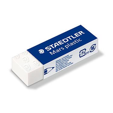 Staedtler Mars plastic x20 Lot de 20 gommes blanches sans latex 65 x 23 x 13 mm