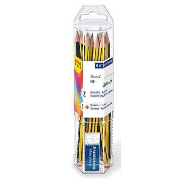 Staedtler Noris 120 Taza 12 lápices de grafito HB + 1 goma de borrar ofrecida