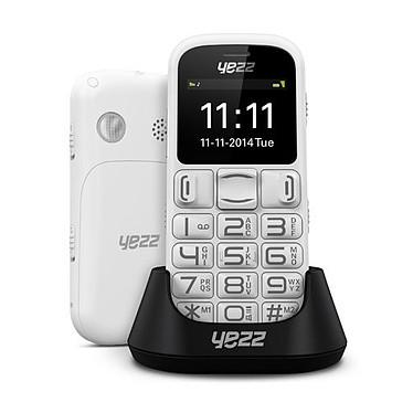 """Yezz Senior ZC20 Blanc Téléphone 2G à larges touches et écran 1.8"""""""