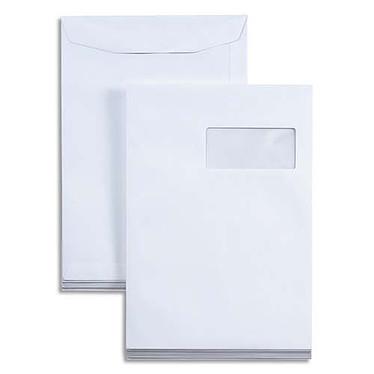 Pack de 250 sobres con ventana Vellum C4 blanco autodesechable 90g